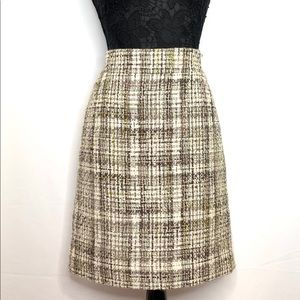 J. Crew Wool Blend Tweed Pencil Skirt - Sz 10
